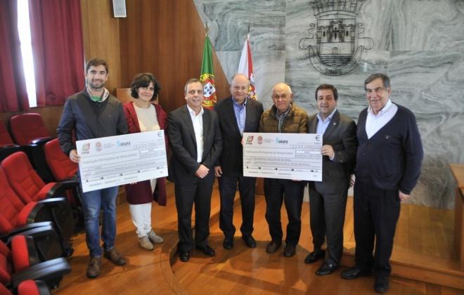 Federação de Basquetebol ajuda Cercisiago e Bombeiros de Sines