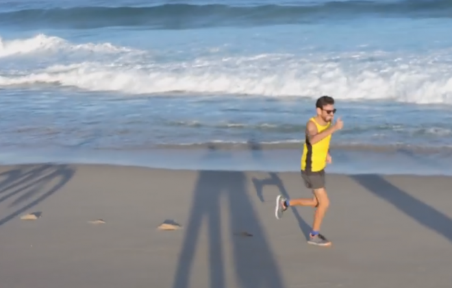 Edgar Matias ligou ontem Sines a Tróia a correr pelo areal das praias