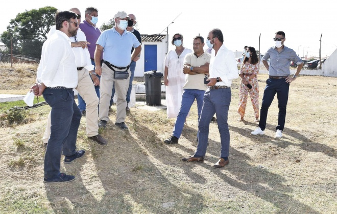 Município de Santiago do Cacém acompanha visita a obras em curso a cargo das Águas Públicas do Alentejo