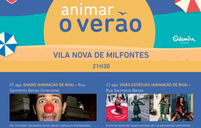 Artistas locais animam o Verão no concelho de Odemira