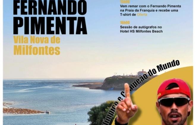 Canoísta Fernando Pimenta está esta segunda-feira em Vila Nova de Milfontes