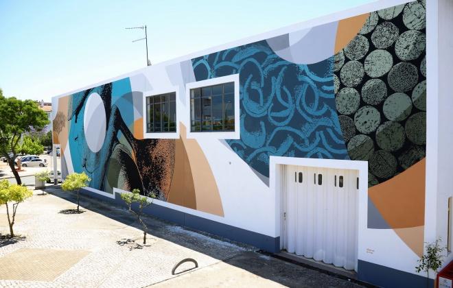 Intervenção Artística de Daniel Eime integra Circuito de Arte Urbana do Município de Grândola