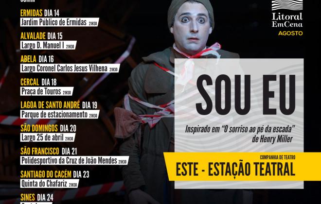 Litoral EmCena apresenta 'Sou Eu' esta noite na Lagoa de Santo André
