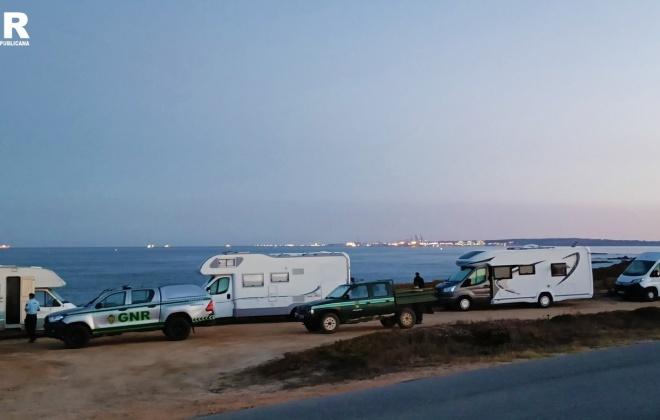 GNR deteta campismo e caravanismo ilegal na Costa Vicentina