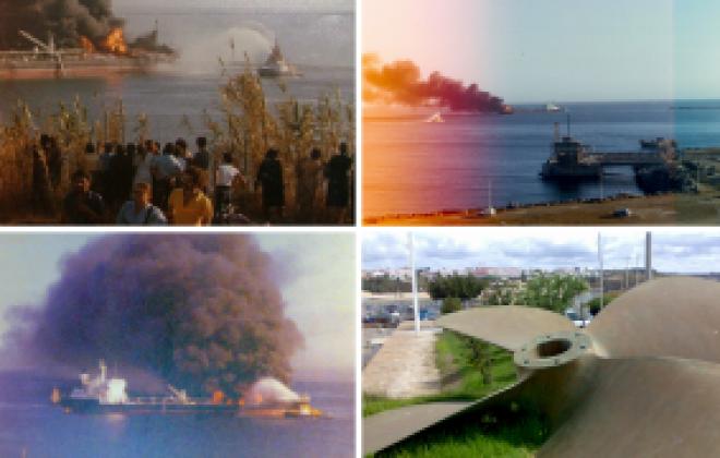 """Petroleiro """"Campeon"""" explodiu no Porto de Sines há 41 anos"""