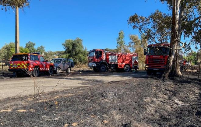 Bombeiros combateram incêndio em Santana da Serra, Ourique
