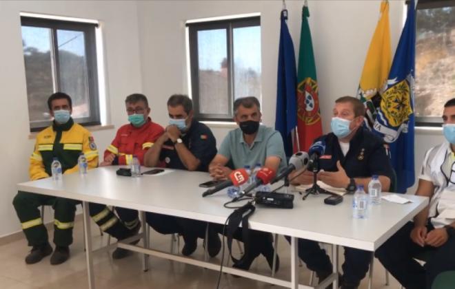 Fogo em Odemira consumiu área estimada em 1.100 hectares