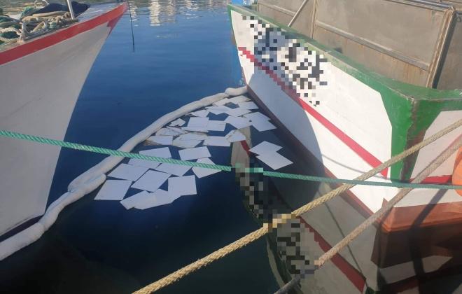 Detetada mancha de poluição causada por embarcação no cais do porto de pesca de Sines