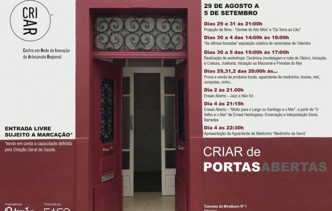 """""""Criar de Portas Abertas"""" em Odemira até 5 de setembro"""