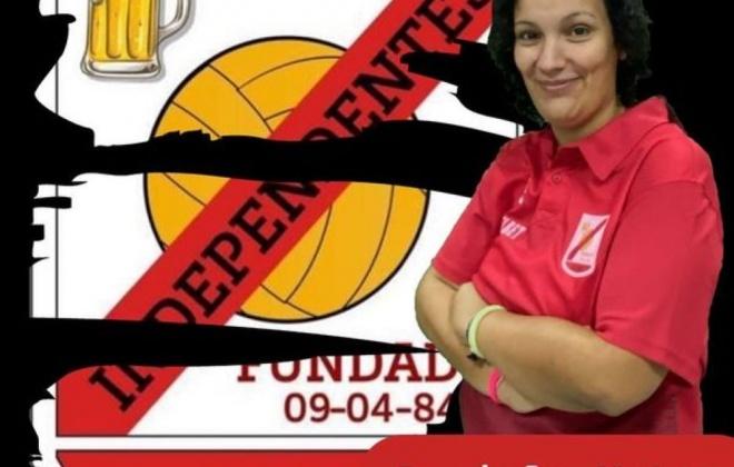 Daniela Matos é a treinadora da equipa feminina dos Independentes de Sines