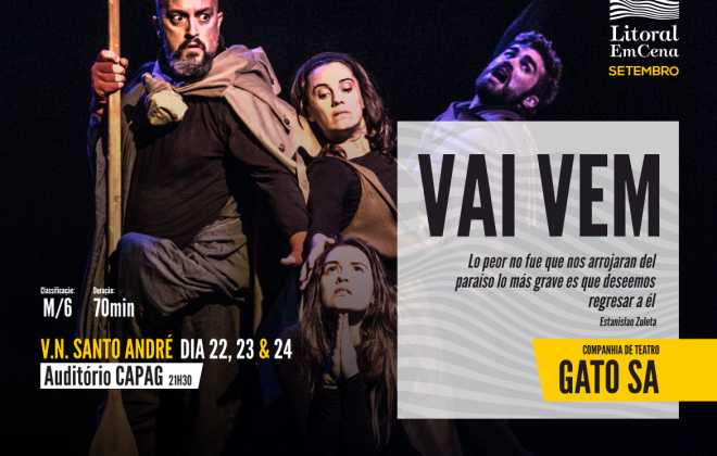GATO SA apresenta 'Vai Vem' nos dias 22, 23 e 24 de setembro em Vila Nova de Santo André